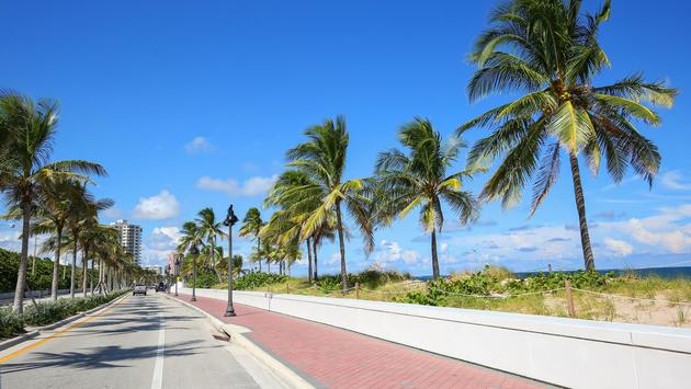 State Road A1A in Fort Lauderdale, Florida