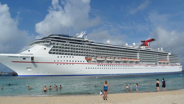 Carnival Miracle docked in Grand Turk, Turks and Caicos