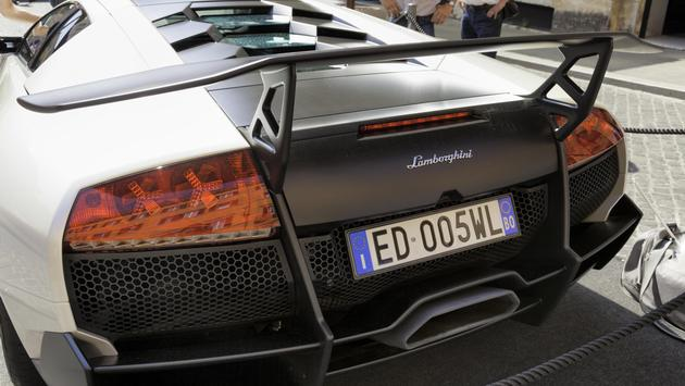 A Lamborghini Murcielago in Rome, Italy