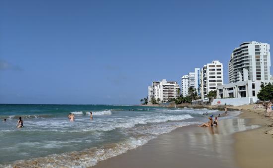 beach, ocean, puerto rico, san juan, marriott