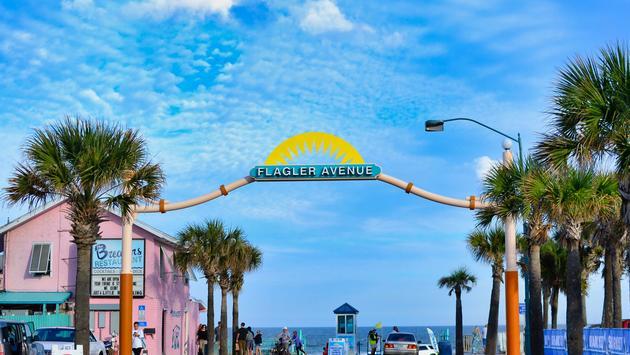 Flagler Avenue, New Smyrna Beach, beach