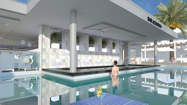 Swim-up bar at Riu Tequila. (photo courtesy of RIU Hotels & Resorts)
