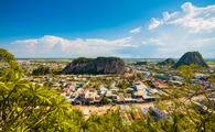 Da Nang, Vietnam, along with their Marble Mountains