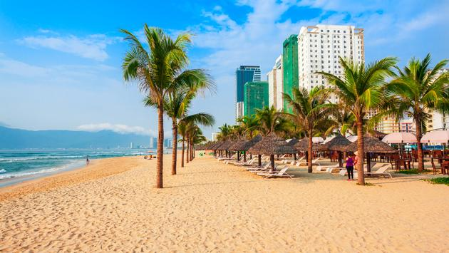 My Khe city beach, Da Nang, Vietnam