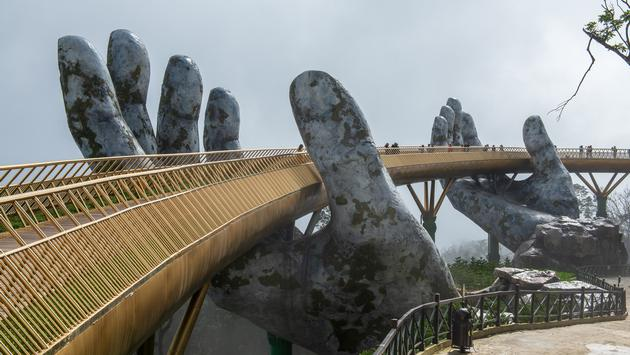 Golden Bridge in Ba Na Hills, Da Nang, Vietnam