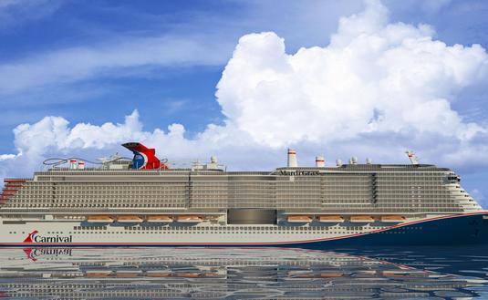 Rendering of Mardi Gras, Carnival Cruise Line