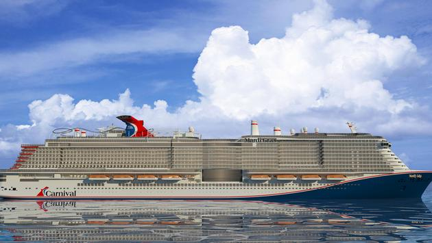 Rendering of Mardi Gras, Carnival Cruise Line