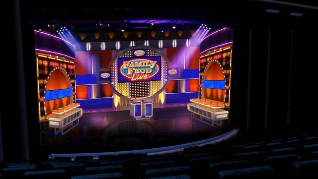 Family Feud set simulation, Carnival Cruise Line