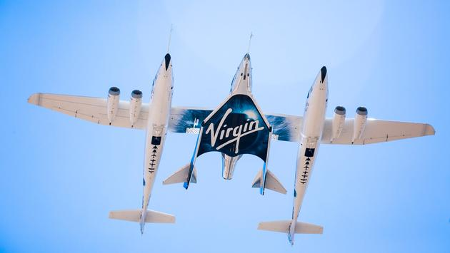 Virgin Galactic's Carrier Aircraft VMS Eve and VSS Unity Take to the Skies.