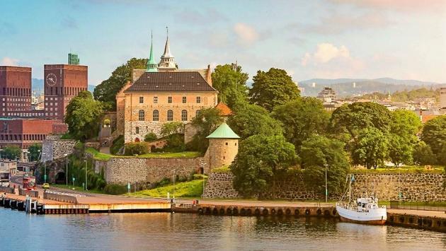 European river cruising in Oslo, Norway