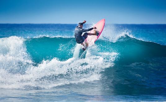 Surfing in Kauai