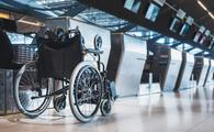wheelchair, ticket counter, disability, accessible, airport