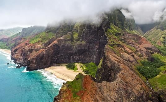 Aerial View over Kauai, Hawaii