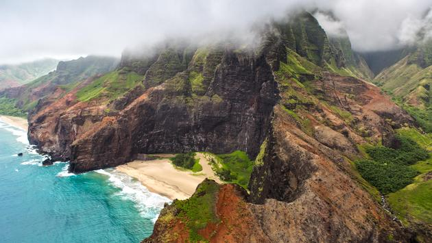 Aerial View over Kauai, Hawaii