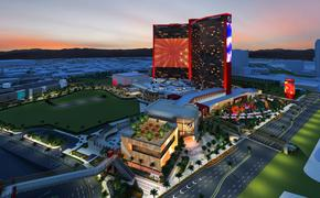Exterior rendering of the new Resorts World Las Vegas complex.