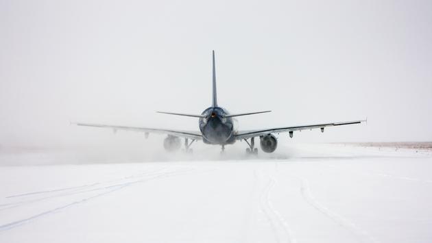 plane, snow, airline