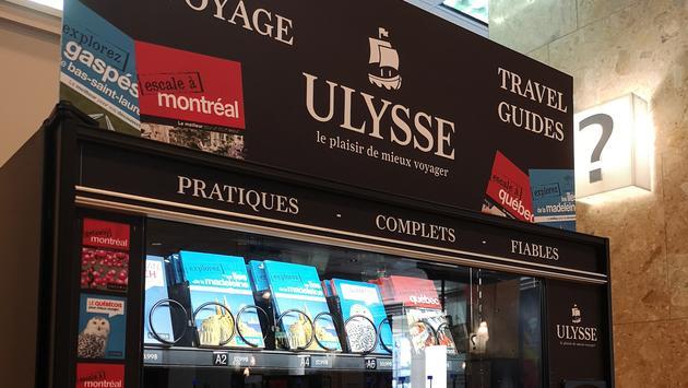 La distributrice de guides Ulysse à Montréal