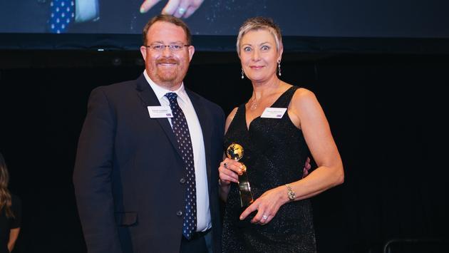 TravelPulse senior writer Jason Leppert (left) and Seabourn's director of charter and incentive sales Tanya Barnette (right)