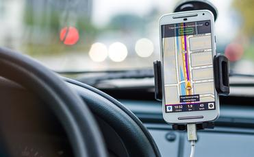 Smart phone GPS navigation in Amsterdam