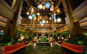 Lobby at Disney's Polynesian Villas & Bungalows at Walt Disney World