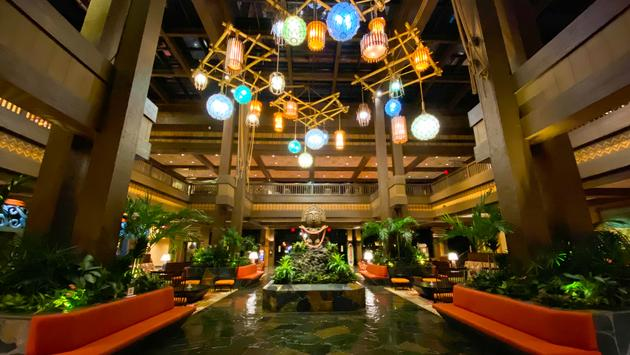 Lobby at Disney's Polynesian Villas & Bungalows at Walt Disney World