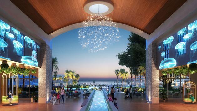 The arrival lobby of Beaches Runaway Bay
