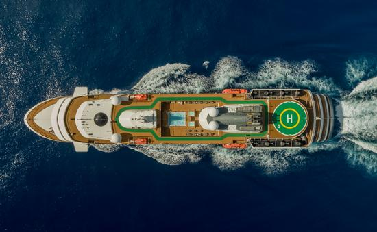 A rendering of Atlas' first ship, World Navigator.