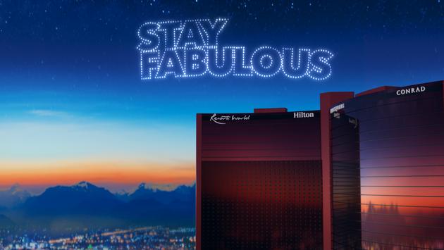 "Resorts World Las Vegas' tagline, ""Stay Fabulous""."