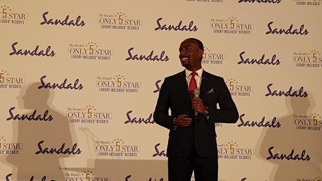 CJ Smith, Sandals' national business development manager, provided an update on Sandals' various properties and their Overdrive initiatives.