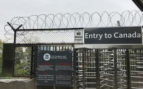 Customs and Border Protection checkpoint at Canadian-U.S. border.