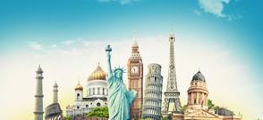 Travel illustration world