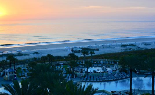 pool, beach, Omni Amelia Island Plantation Resort, sunrise, Florida