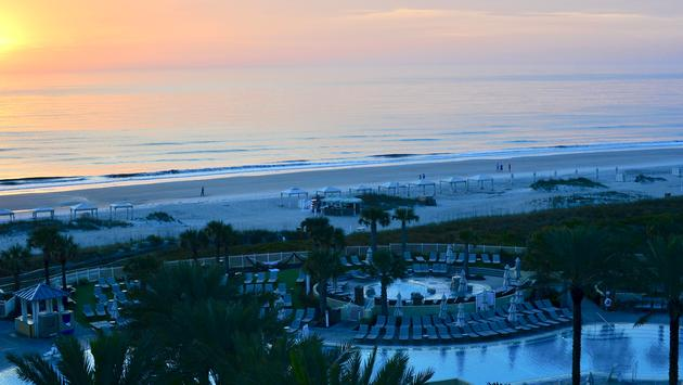 pool, beach, Omni Amelia Island Plantation Resort, sunrise, Florida