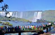 Tourists Visiting Iguazu Falls, Brazil