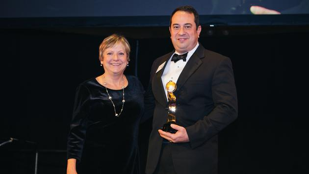 TravAlliancemedia's Theresa Norton (left) with Anthony Viciana (right) of Princess Cruises