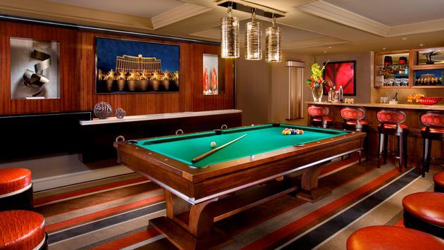 Bellagio Executive Parlor Suite billiards room