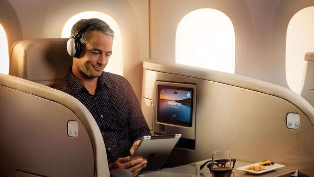 Business Premier cabin onboard an Air New Zealand Dreamliner