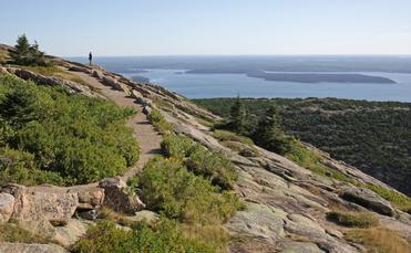 View from Cadillac Mountain in Acadia National Park, Maine
