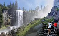 Mist Trail near Vernal Falls in Yosemite National Park, California