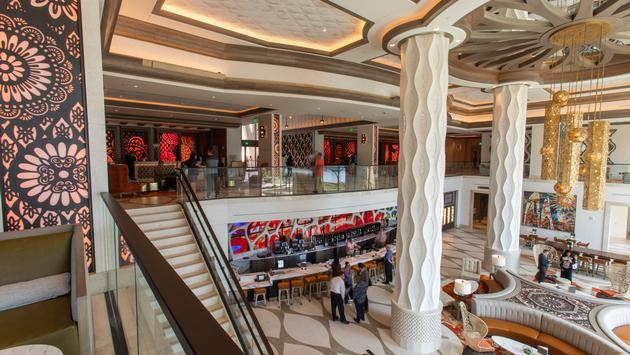 The Gran Destino's two-story lobby