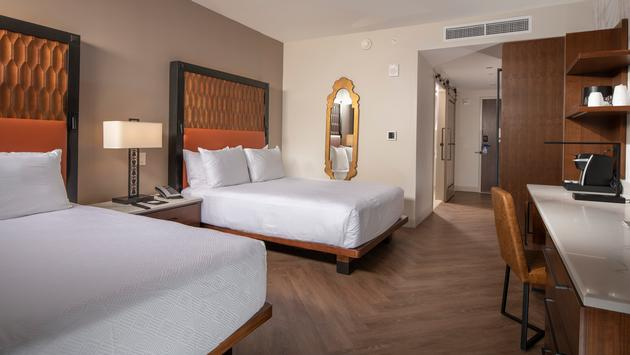 A Tower guest room with two queen beds, walt disney world resort
