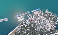 Cruise ships docked in Key West, Florida.