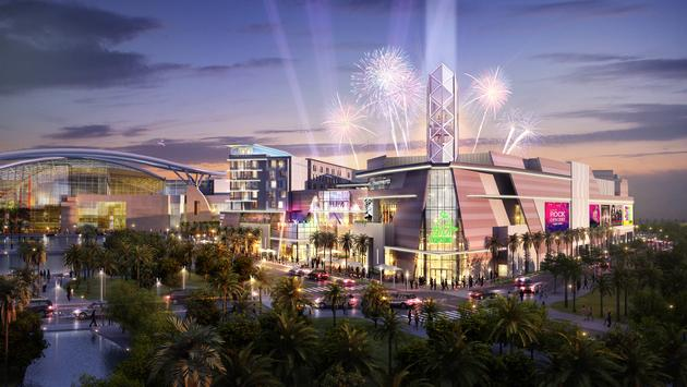 Artist's rendering of San Juan's upcoming El Distrito entertainment complex.
