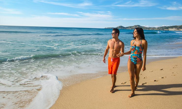 Walking on the beach in Los Cabos