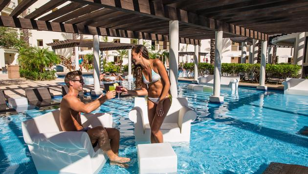 The adults-only pool area at Hyatt Ziva Los Cabos