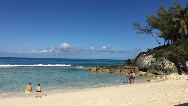 The beach at Blue Lagoon Island, Bahamas