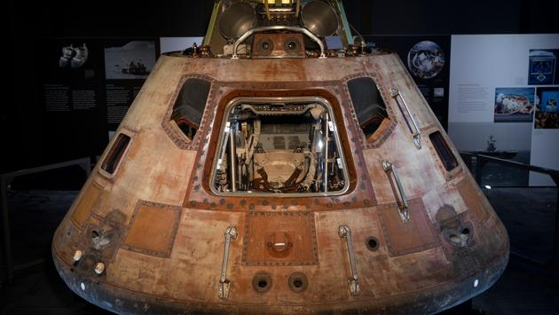 Command Module with Hatch, 'Destination Moon The Apollo 11 Mission.'