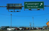 Passenger terminal sign at Yeager Airport in West Virginia