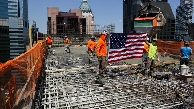 Construction team at the site of the future Hard Rock Hotel New York