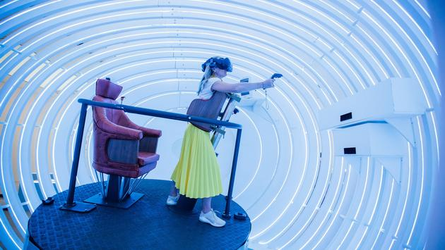 The 'Fly' virtual-reality experience at the BA 2119: Flight of the Future exhibition